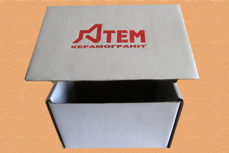 самосборная коробка с логотипом Атем керамогранит #033