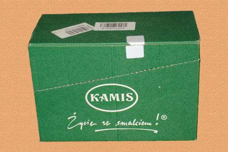 зеленая самосборная коробка Kamis с логотипом