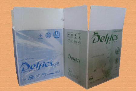 гофрированная упаковка с логотипом Delfics