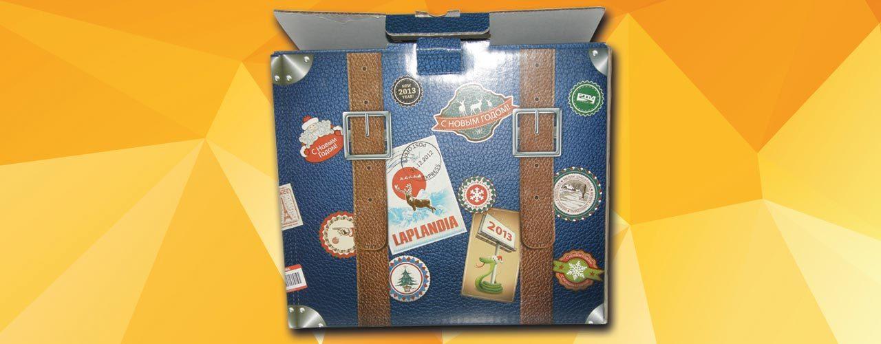 Подарочная кашированая упаковка